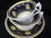 SOLD New Hall Dolphin handled tea & coffee trio